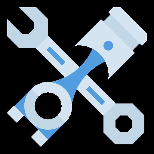 Blue car service icon